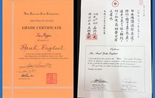 Paul Englert, Judo Certificates